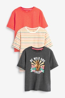 3 Pack Short Sleeve Graphic T-Shirts (3-16yrs)