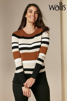 Wallis Neutral Stripe Jumper