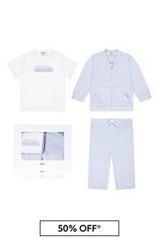 Boss Kidswear Baby Boys Blue Cotton Tracksuit