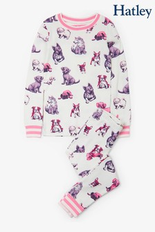 Hatley Natural Precious Pups Organic Cotton Pyjama Set