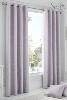 Ebony Eyelet Curtains by Serene