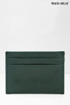 White Stuff Green Caleb Leather Cardholder