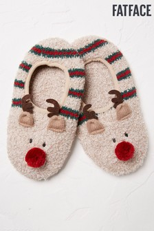 FatFace Natural Reindeer Cosy Footsies