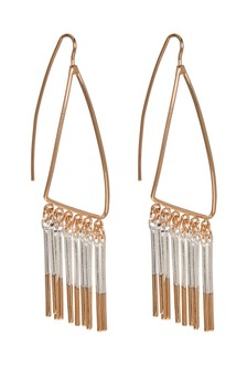 Dipped Fringe Drop Earrings