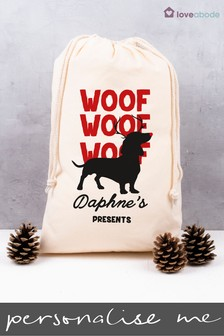 Personalised Dog Present Sack by Loveabode