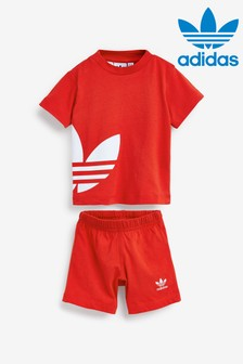 adidas Originals Infant Red T-Shirt And Short Set