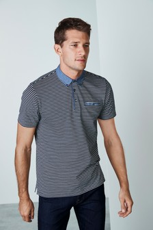 Regular Fit Woven Collar Poloshirt