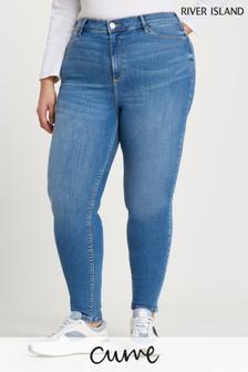 River Island Plus Denim Medium Molly Mid Rise Bum Sculpt Jeans