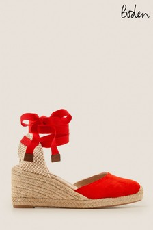 Boden Red Cassie Espadrille Wedges