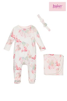 Baker by Ted Baker Off White Sleepsuit And Headband