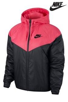 Nike Sportswear Black/Pink Chevron Jacket