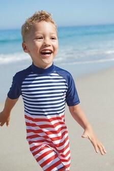 Stripe Sunsafe Swimsuit (3mths-7yrs)