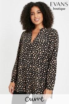 Evans Curve Black/Camel Spot Shirt