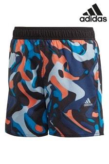 adidas Blue Printed Swim Shorts