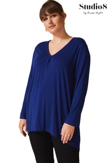 Studio 8 Blue Teresa V-Neck Top