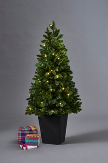 80 LED Potted 4ft Christmas Tree