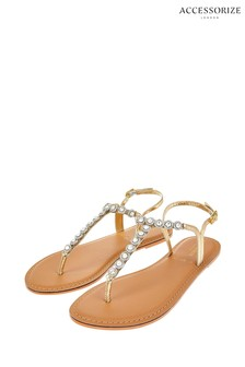 Accessorize Clear Rebecca Round Crystal Sandals