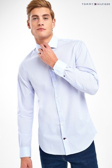 Tommy Hilfiger Blue Tailored Flex Collar Shirt