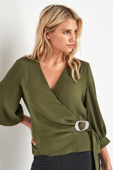 Buckle Wrap Top