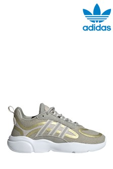 adidas Originals Beige/Gold Haiwee Junior Trainers