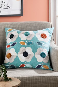 Retro Daisy Floral Cushion