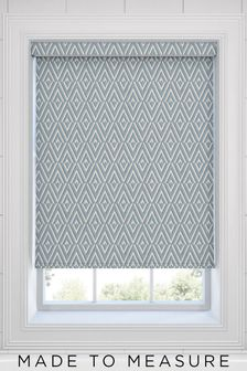 Nina Topaz Blue Made To Measure Roller Blind