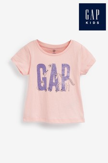 Gap Pink Logo Graphic T-Shirt