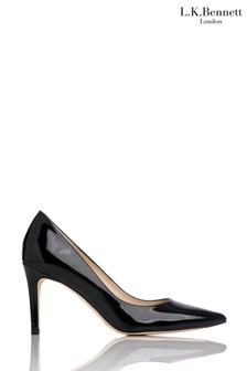 L.K.Bennett Floret Patent Leather Pointed Toe Courts