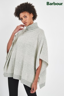 Barbour® Tartan Grey Stripe Rhonda Cape Jumper