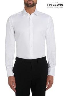 T.M. Lewin White Twill Slim Fit Button Cuff Shirt