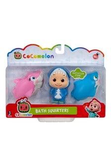 Cocomelon Bath Squirters 2 Fish, JJ 3 pack