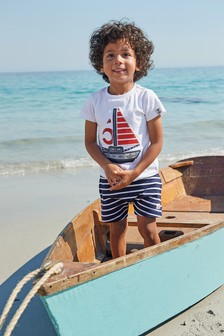 Boat Appliqué T-Shirt And Short Set (3mths-7yrs)