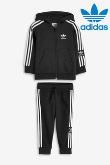 adidas Originals Infant Black Lock Up Hoody And Jogger Set