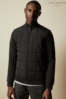 Ted Baker Black Pasport Quilted Funnel Neck Jumper
