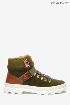 GANT Green Westport Mid Lace Boots
