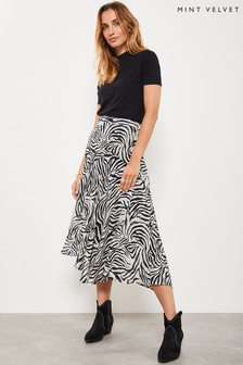 Mint Velvet Animal Naomi Print Wrap Skirt