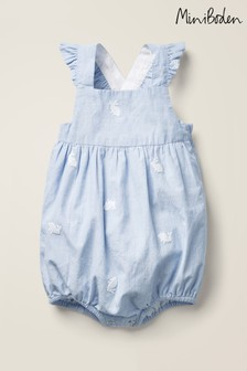 Boden Blue Frilly Bubble Romper