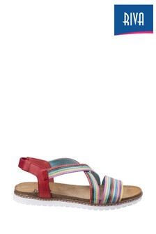 Riva Red Dante Multi Leather Sandals