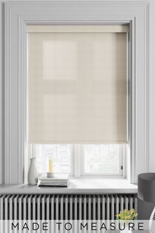 Roxie Ivory Natural Made To Measure Roller Blind