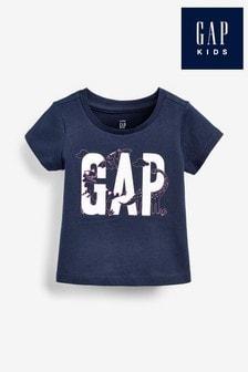 Gap Navy Logo Graphic T-Shirt