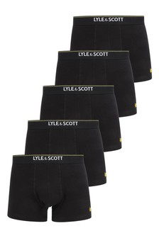Lyle And Scott Black 5 Pack Core Trunks