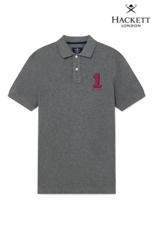 Hackett Grey Classic Fit Short Sleeve Polo