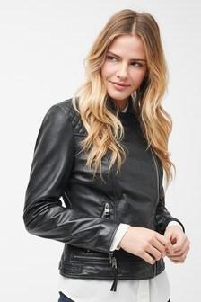 Luxusní kožená motorkářská bunda
