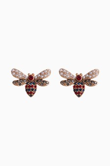 Pearl Effect Insect Stud Earrings