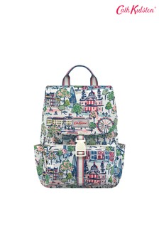 Cath Kidston® Cream London View Buckle Backpack