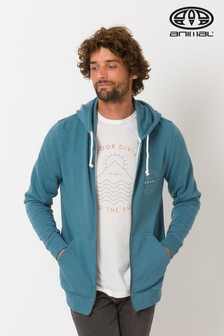 Animal Blue Fred Zip Through Hoody