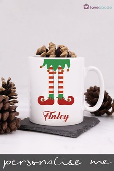 Personalised Elf Legs Mug by Loveabode