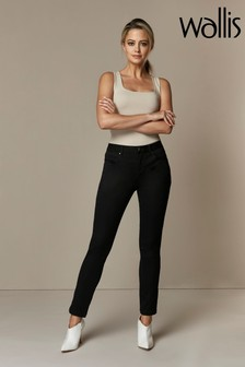 Wallis Black Petite Fitted Jeggings