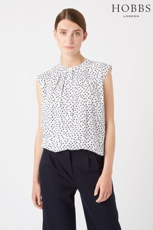 Hobbs White Lillie Blouse