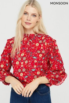 Monsoon Tilly Floral Print Top